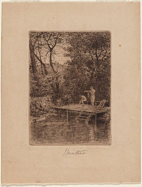 An image of The bath, Healesville by John Mather