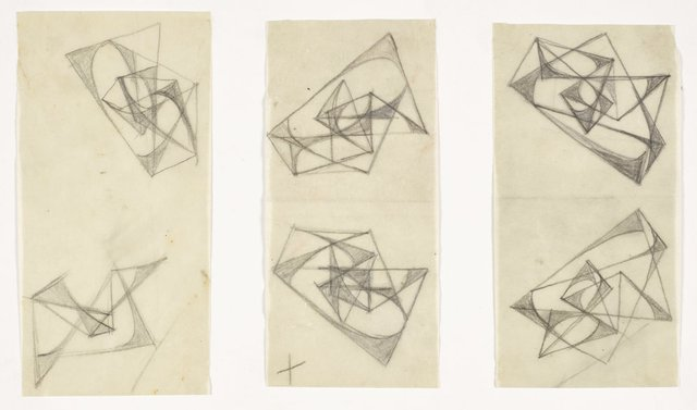 An image of Six studies for abstract sculptures