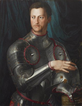 AGNSW collection Agnolo Bronzino Cosimo I de' Medici in armour (circa 1545) 78.1996