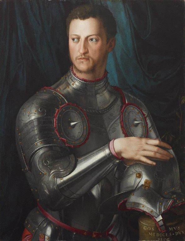 An image of Cosimo I de' Medici in armour