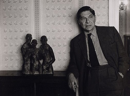 An image of Arthur Koestler, writer, political activist and social philosopher, Montpelier Square, London by Lewis Morley