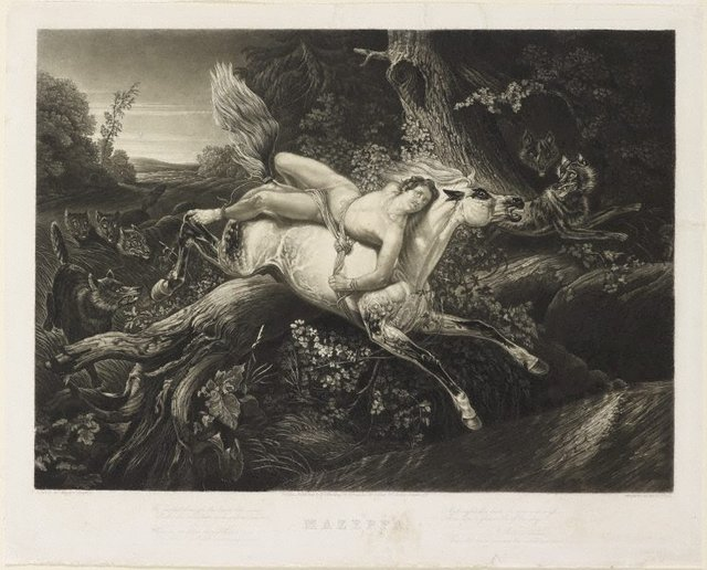 An image of Mazeppa and the wolves