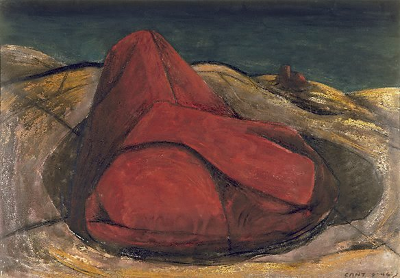 AGNSW collection James Cant The red stones (1946) 7822