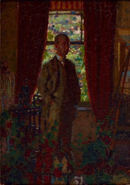 An image of Self-portrait by Harold Gilman