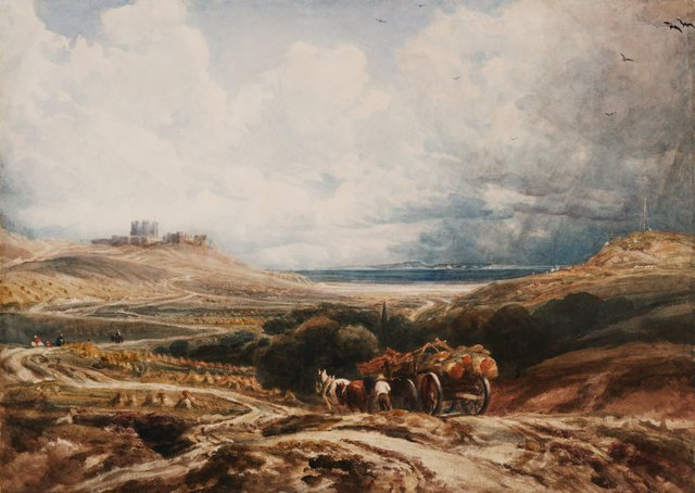 An image of Dover Castle from the Canterbury Road