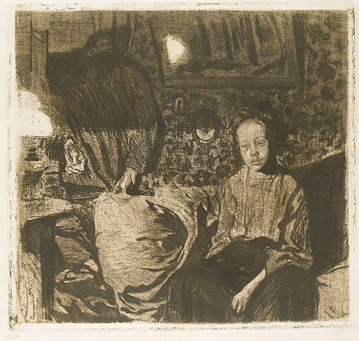 An image of Young couple by Käthe Kollwitz