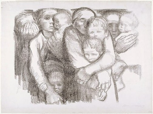 An image of The mothers by Käthe Kollwitz