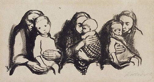 An image of Waiting room at the Pediatrician's by Käthe Kollwitz