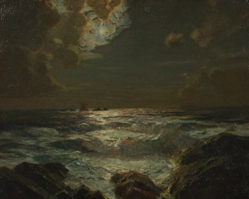 An image of The longship's light by Julius Olsson