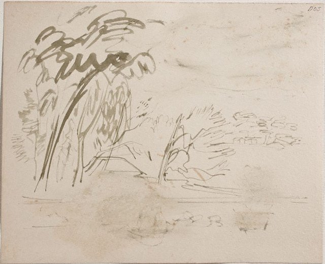 An image of (Landscape with houses) (Sketches from Wangi and Lake Macquarie)