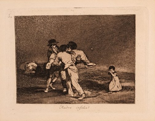 An image of Unhappy mother by Francisco de Goya Y Lucientes