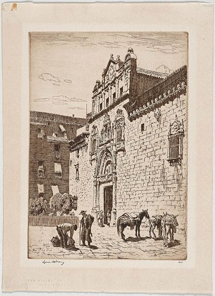 An image of Santa Cruz, Toledo by Lionel Lindsay