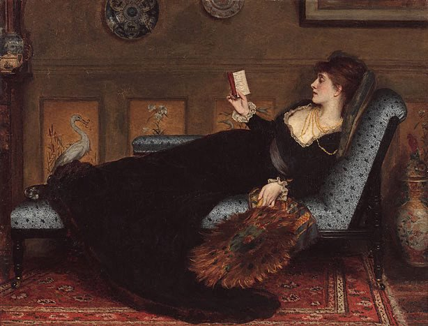 AGNSW collection Robert James Gordon La liseuse (the reader) circa 1877