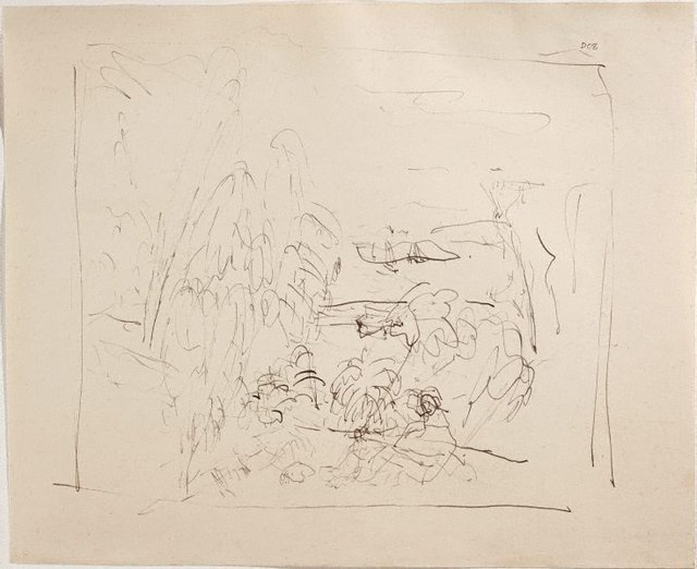 An image of (Landscape with figure) (Sketches from Wangi and Lake Macquarie)
