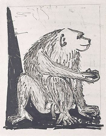 An image of The monkey by Pablo Picasso