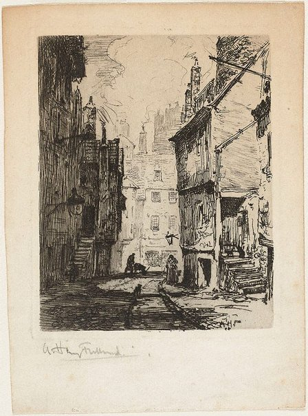 An image of Street scene by A Henry Fullwood