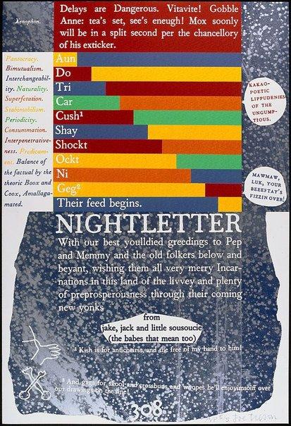 An image of N - Nightletter by Joe Tilson