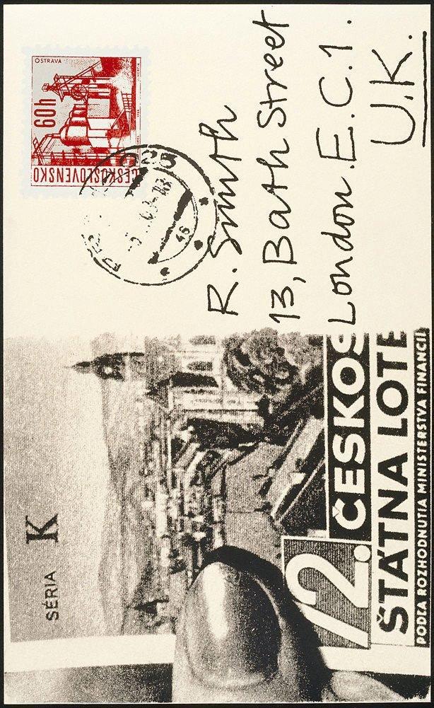 An image of P - Prague postcard