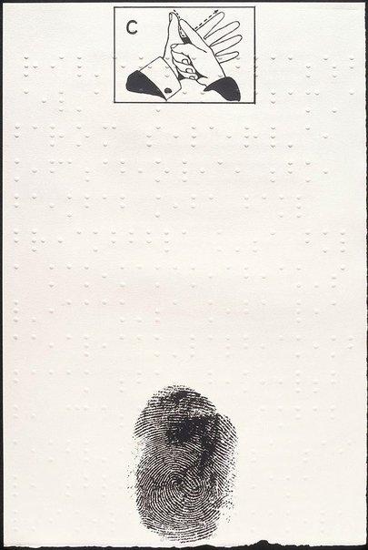 An image of C - Deaf and dumb alphabet by Joe Tilson