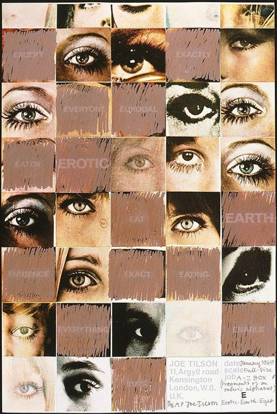 An image of E - Erotic - Earth - Eyes by Joe Tilson