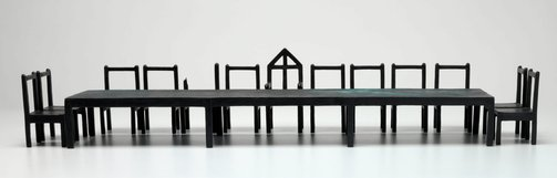 An image of The last supper (maquette) by Bob Law