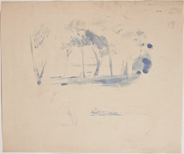 An image of (Landscape with figures) (Sketches from Wangi and Lake Macquarie)