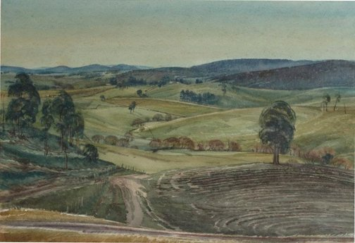 An image of Autumn landscape, Oberon by Lorna Muir Nimmo