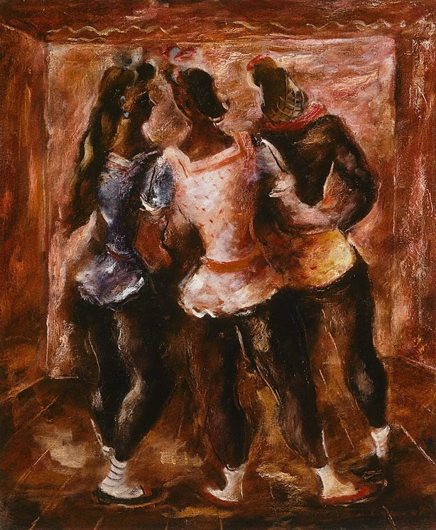 An image of Three dancers