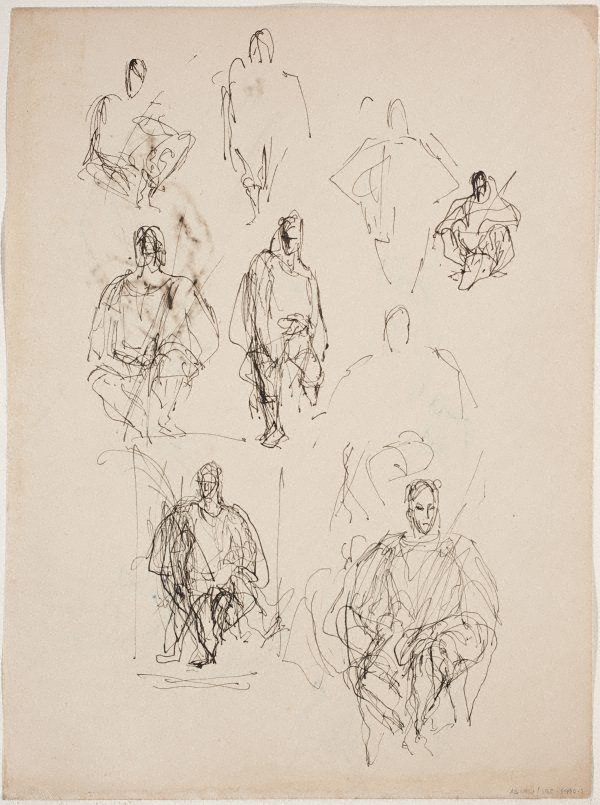 An image of (Figure studies; seated figures) (Sketches from Wangi and Lake Macquarie)