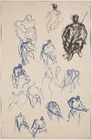 Alternate image of (Figure studies; seated figures) (Sketches from Wangi and Lake Macquarie) by William Dobell
