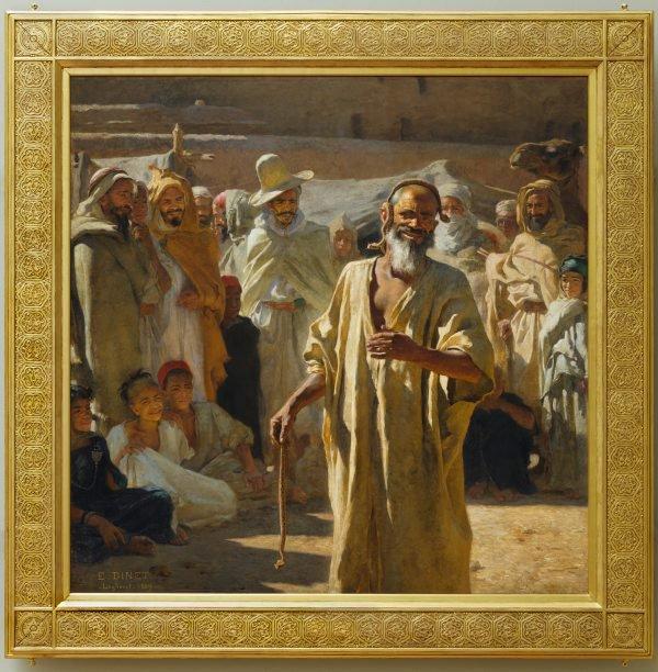 The snake charmer, (1889) by Nasreddine Dinet