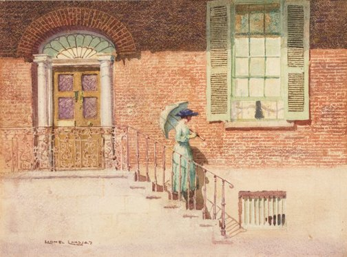An image of The doctor's house, Windsor by Lionel Lindsay
