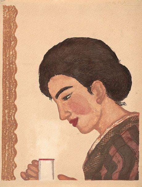 An image of Coffee by Onchi Kōshirō