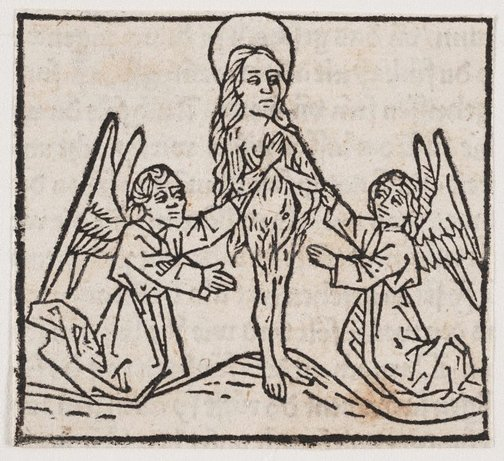 An image of Mary Magdalen supported by two angels by Press of Gunther Zainer, Augsburg