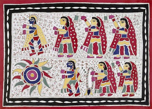 An image of Krishna and the gopis by