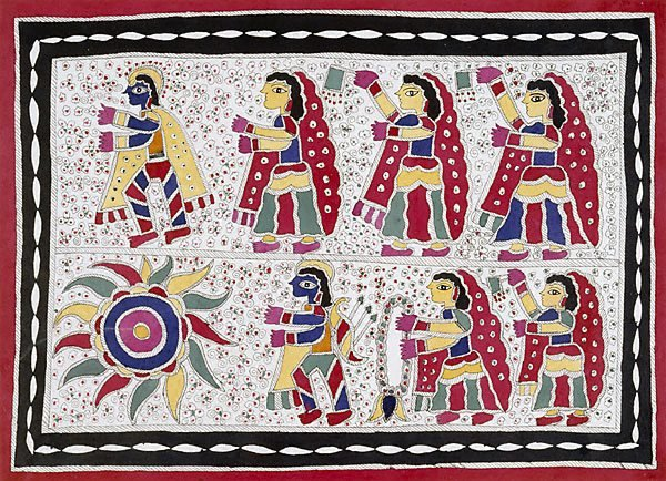 An image of Krishna and the gopis