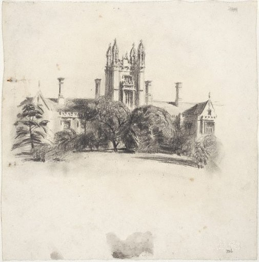 An image of University of Sydney's Central Tower by Lloyd Rees