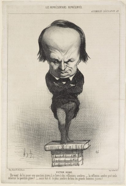 An image of Victor Hugo by Honoré Daumier
