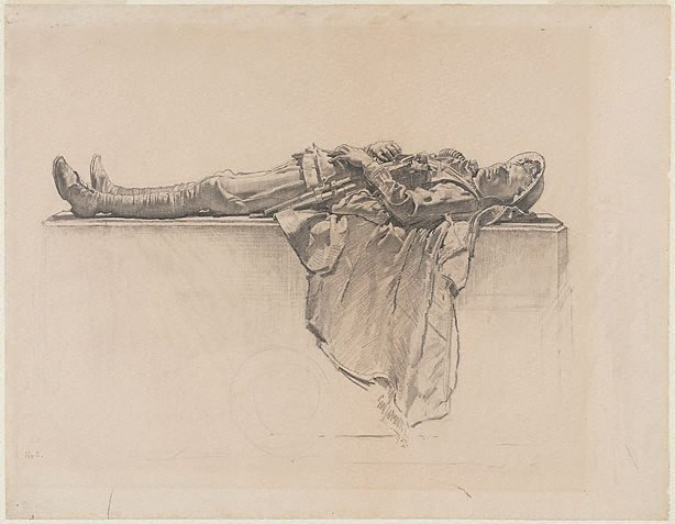 An image of Recumbent figure