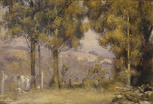 An image of Washing day Kallista by Tom Roberts
