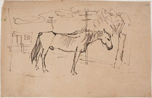 An image of (Horse) (Sketches from Wangi and Lake Macquarie) by William Dobell