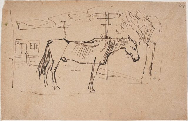An image of (Horse) (Sketches from Wangi and Lake Macquarie)