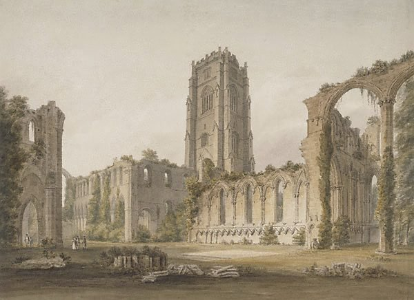 An image of Fountains Abbey, Yorkshire