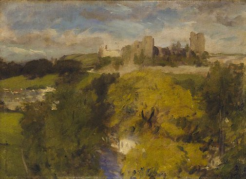 An image of Richmond Castle, Yorkshire by Phillip Wilson Steer