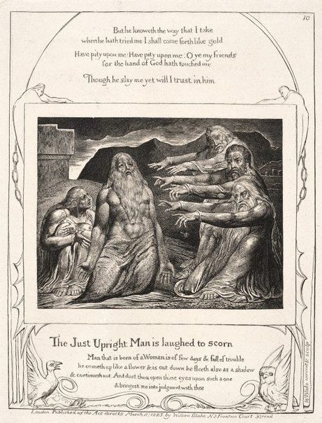 An image of Job rebuked by his friends by William Blake