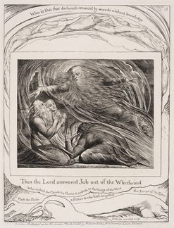 An image of The Lord answering Job out of the whirlwind by William Blake