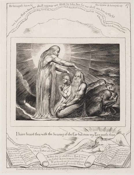 An image of The vision of God by William Blake