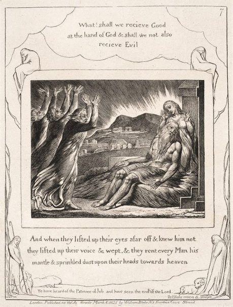 An image of Job's comforters by William Blake
