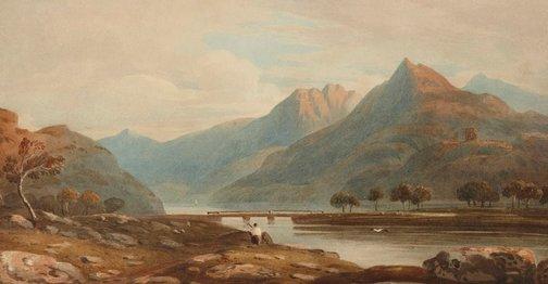 An image of Llanberis, at foot of Snowdon by John Varley