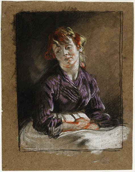 An image of Bust of a young woman by Sir William Orpen